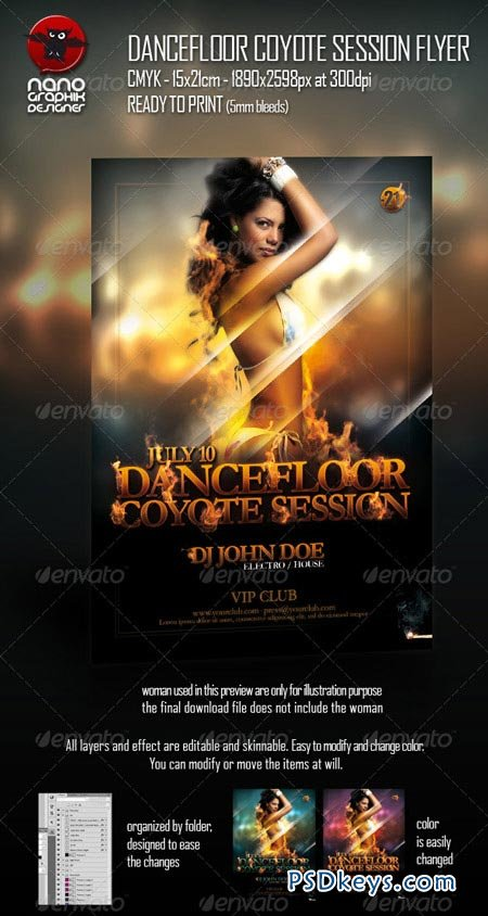 Dancefloor Coyote Session Flyer 157169