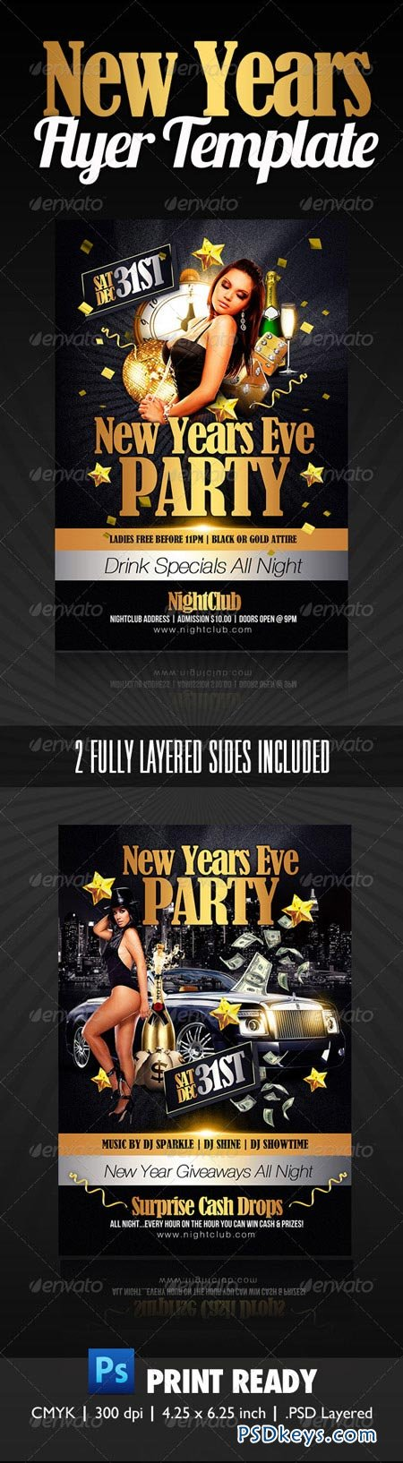 New Years Party Flyer 1127709