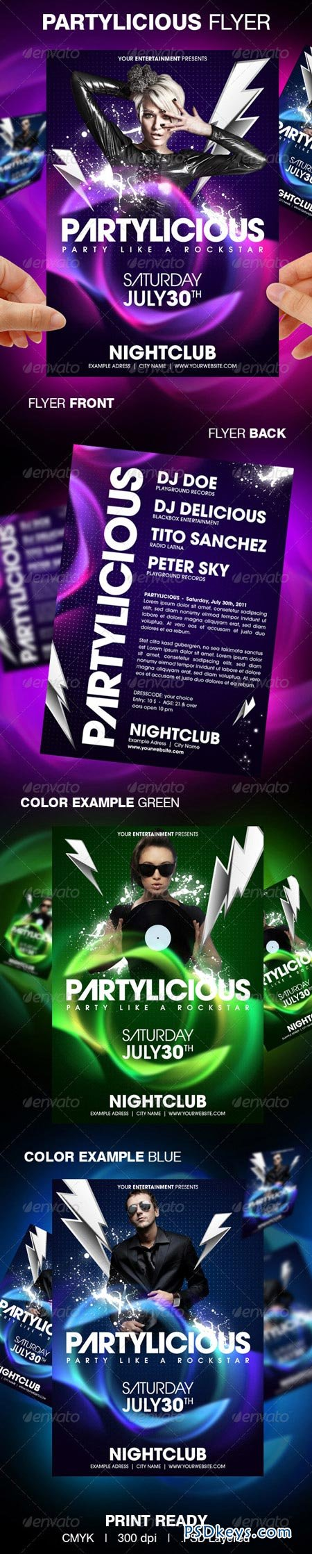 Partylicious Party Flyer 160229