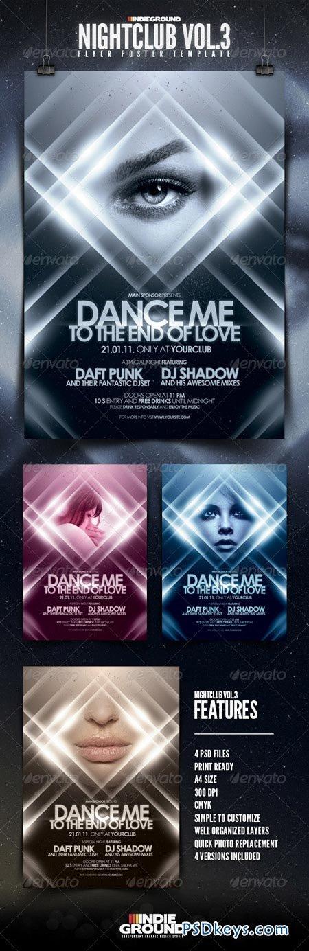 Nightclub Flyer Poster Vol 3 160456 » Free Download