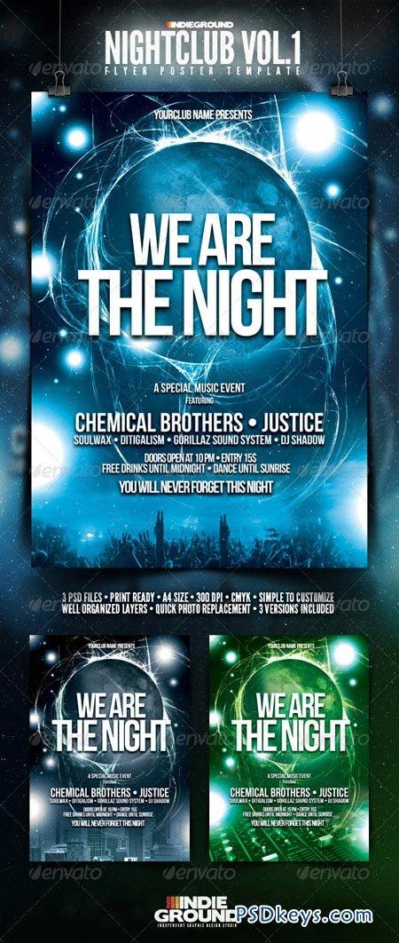 Nightclub Flyer Poster 142653 Free Download Photoshop Vector Stock