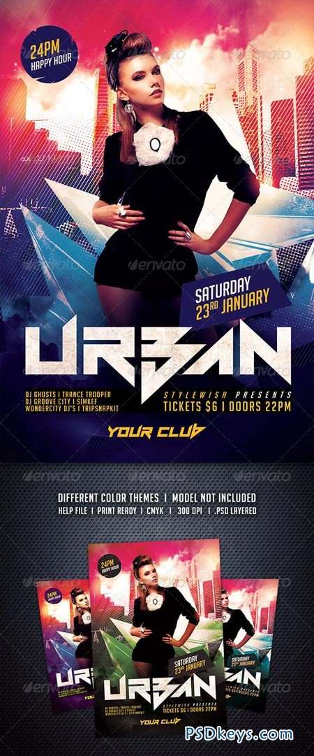 Urban Party Flyer 6235768