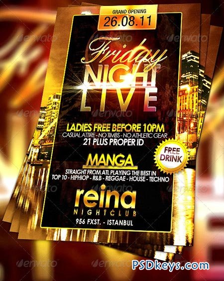 Nightclub Flyer 232673 Free Download Photoshop Vector Stock Image