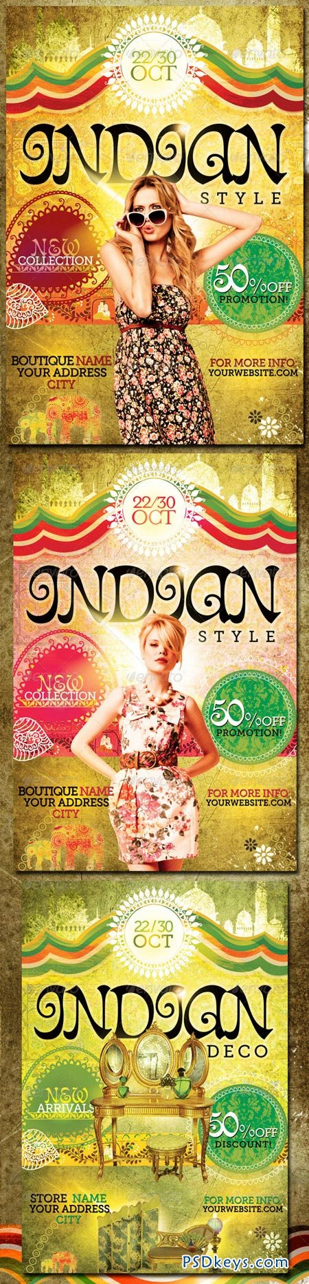 Indian style flyer template 546427