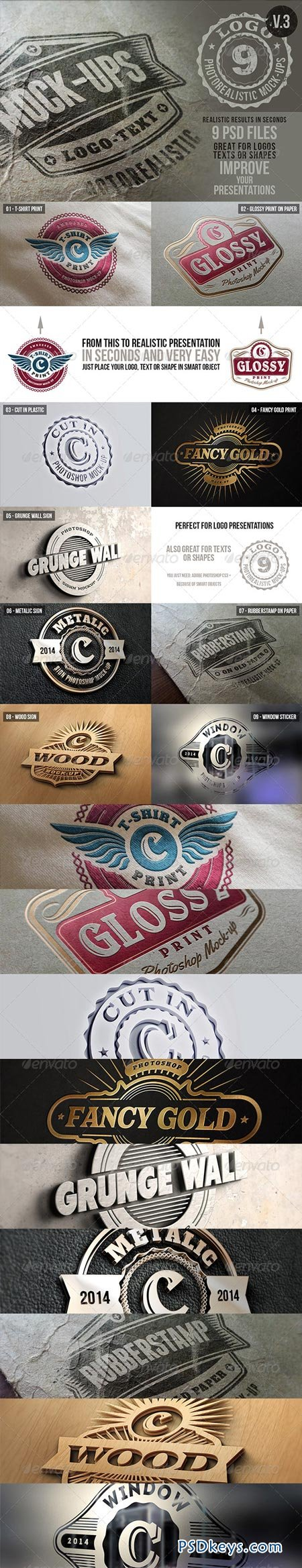 Photorealistic Logo Mock-Ups Vol.3 6367196