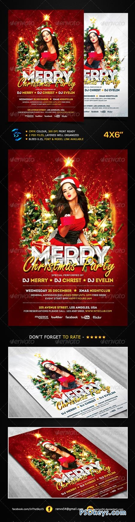 Merry Christmas Party Flyer Template 6352792 Free Download