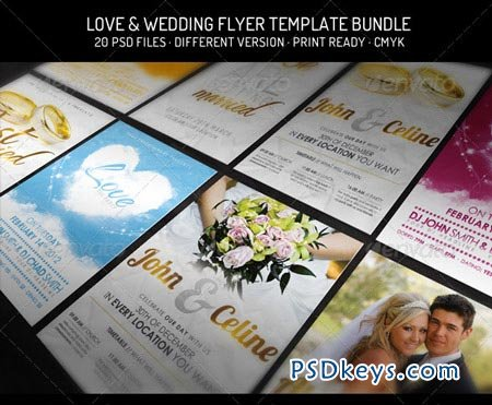 Bundle III - Love & Wedding Flyer Template 2233298 » Free Download ...