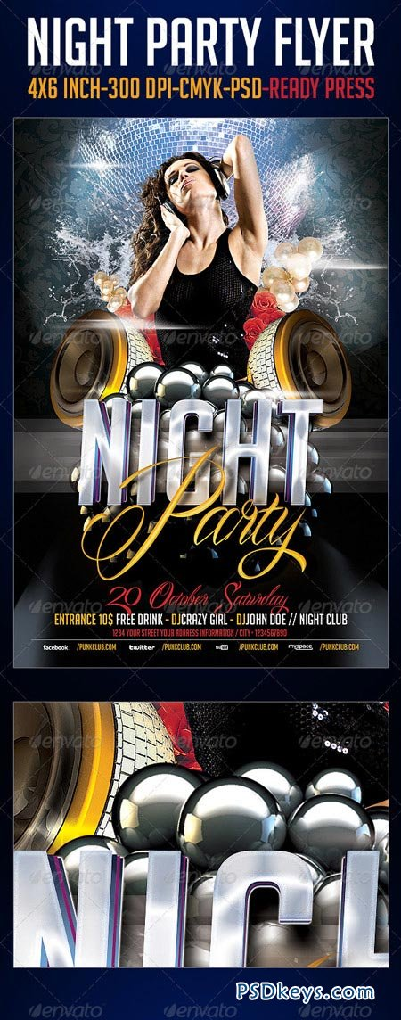 Night Party Flyer Template 3216618
