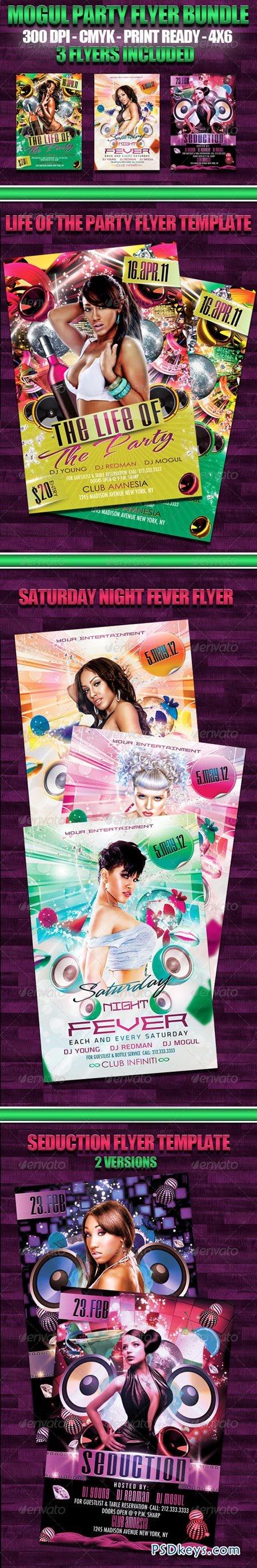 Mogul Party Flyer Bundle 1839320