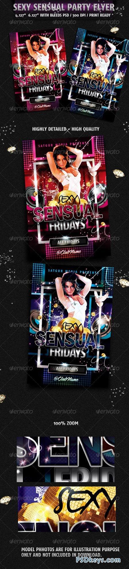 Sensual Music Dance DJ Night Party Flyer 2138436