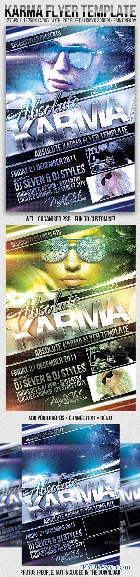 Karma Flyer Template 180384