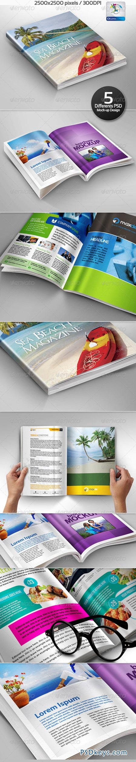 Realistic BookletMagazine Mock-ups 3214770