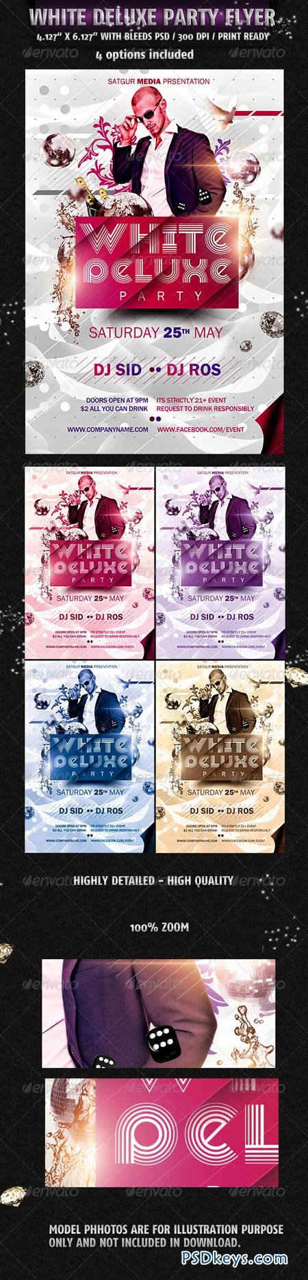 White Deluxe Party Flyer 2305057