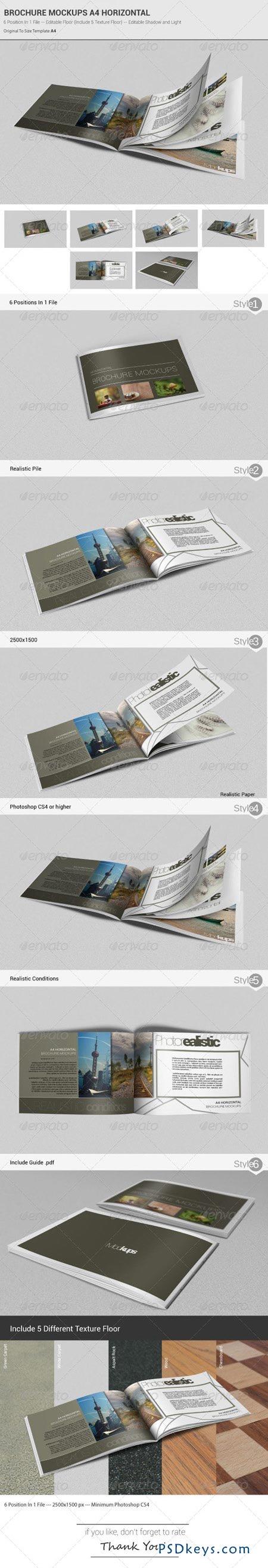 horizontal brochure design - brochure mockups a4 horizontal 4988223 free download