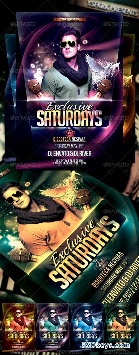 Exclusive Saturday Flyer Template 3215454