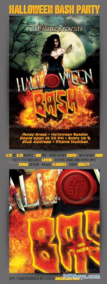 Halloween Bash Party Flyer 3214793