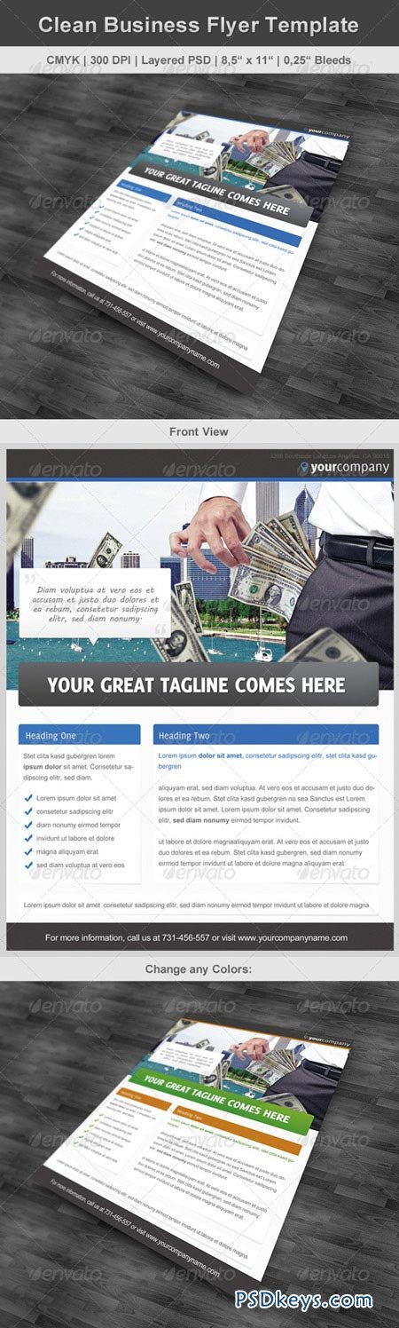 Clean Business Flyer Template 2739564