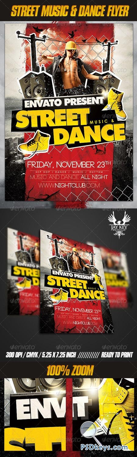Street Music and Dance Flyer 3209356