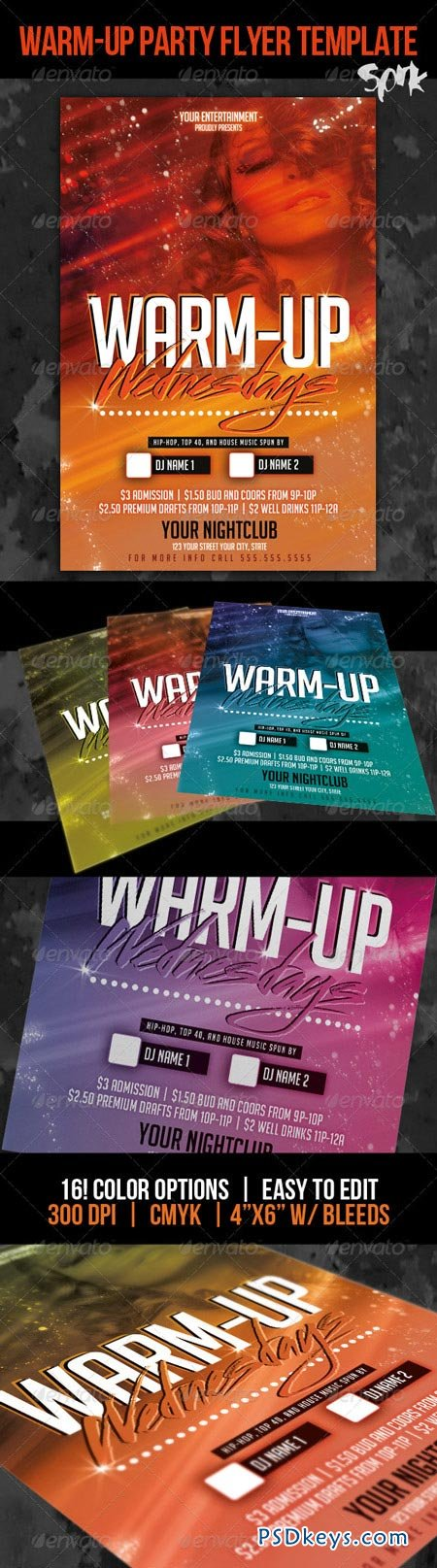 Warm Up Wednesdays Party Flyer or Poster Template 3203349