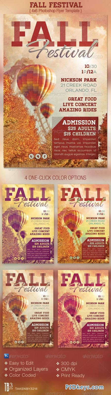Fall Festival Event Flyer Template 3201047