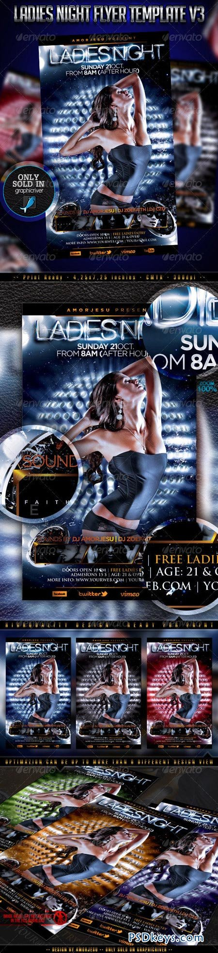 Ladies Night Flyer Template V3 3200041