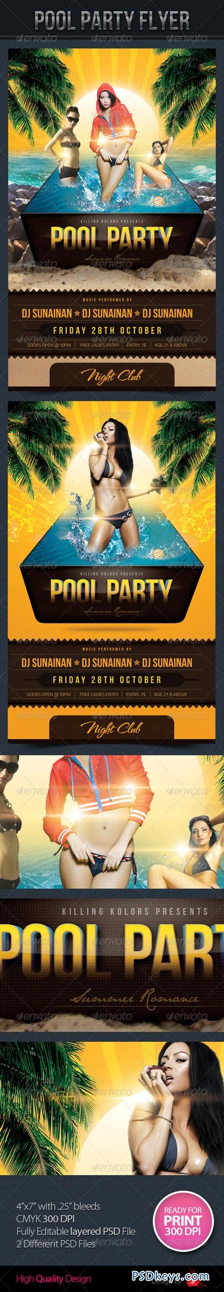 Pool Party Flyer 3188572