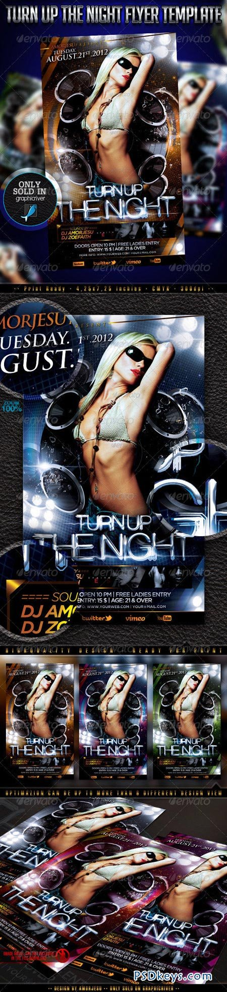 Turn Up The Night Flyer Template 3199888