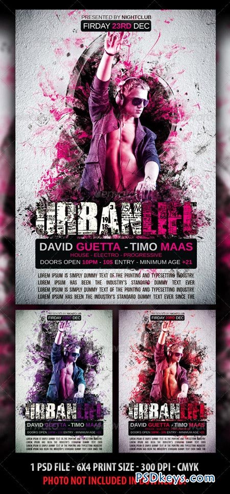 Urban Life Party Flyer 3187751