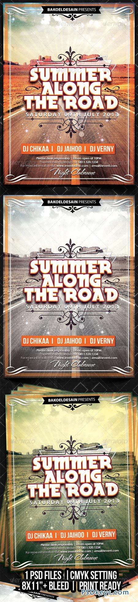Summer Along The Road Flyer 4916251
