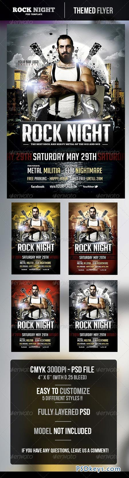 Rock Night Flyer Template 4912675