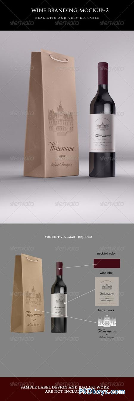 Wine Bag and Bottle Mock-up 4967699