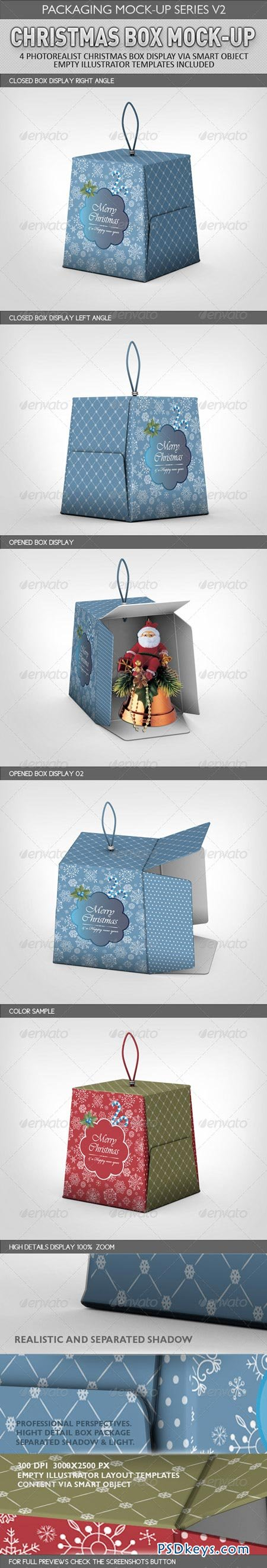 Christmas Box Mock-Up 3228594