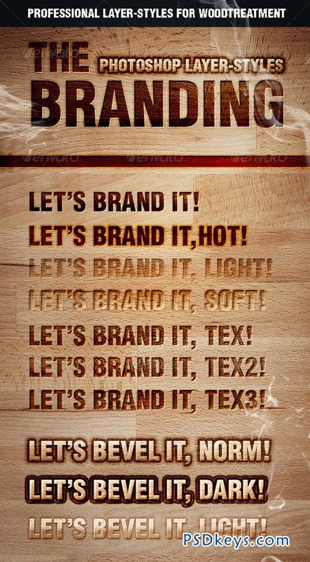 The Branding Text Styles & Layer Styles 2126696