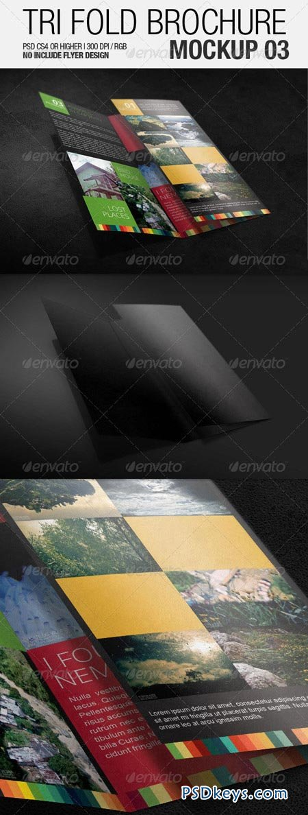 Tri Fold Brochure Mockup 03 3502069