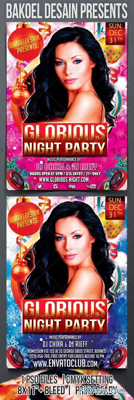 Glorious Night Party Flyer 3498186