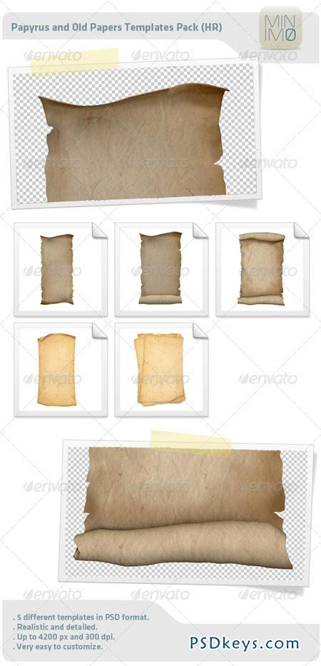 Papyrus And Old Papers Templates Pack 3505008