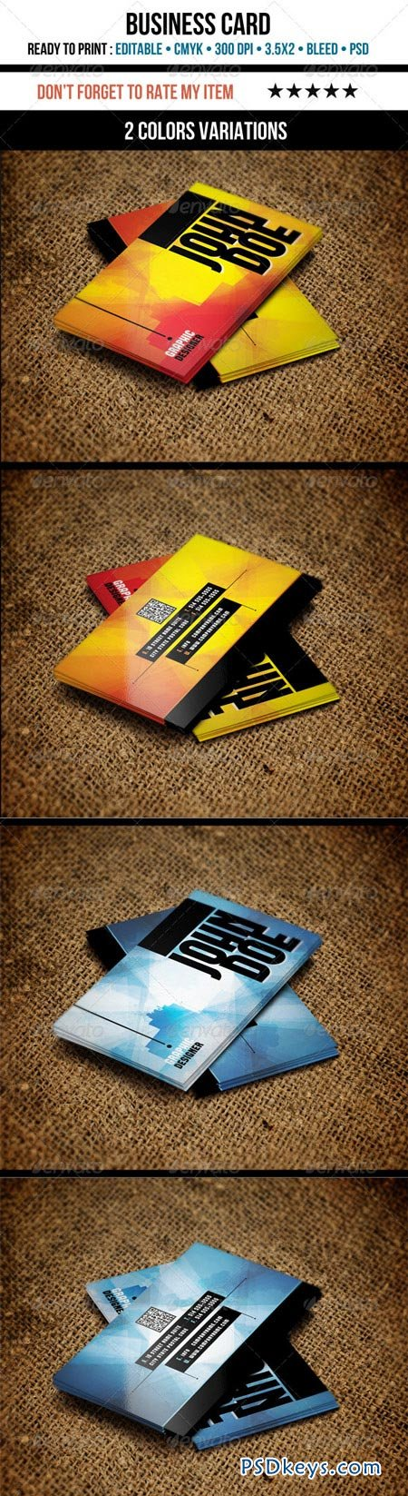 Grunge Business Cards 3501385