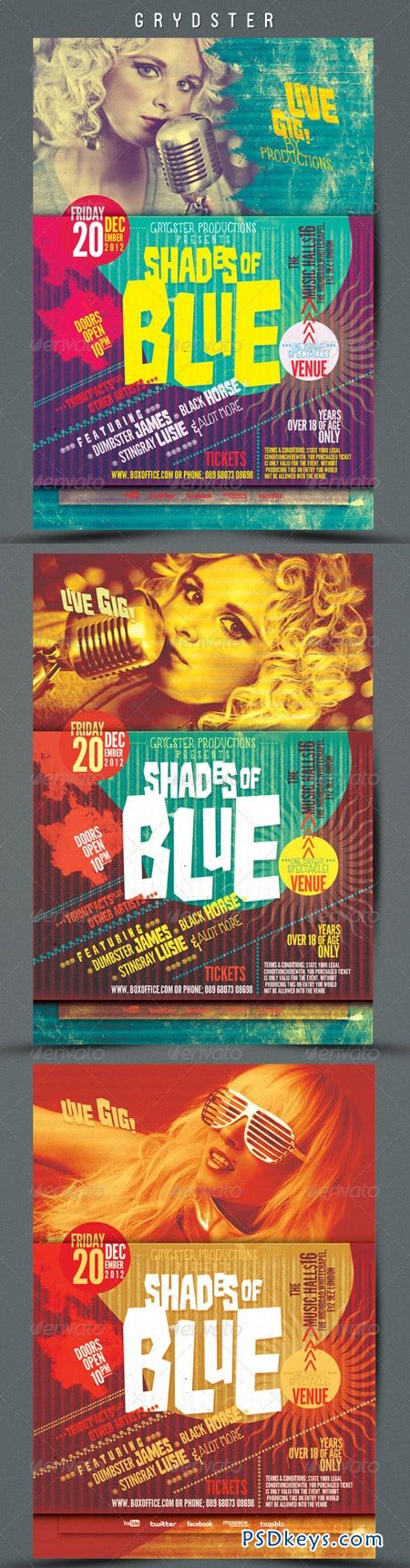 Shades of Blue Flyer 3465850