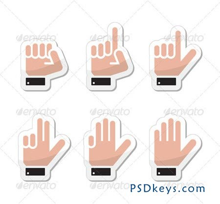Hand Vector Gestures, Signals and Signs - Victory 3520034
