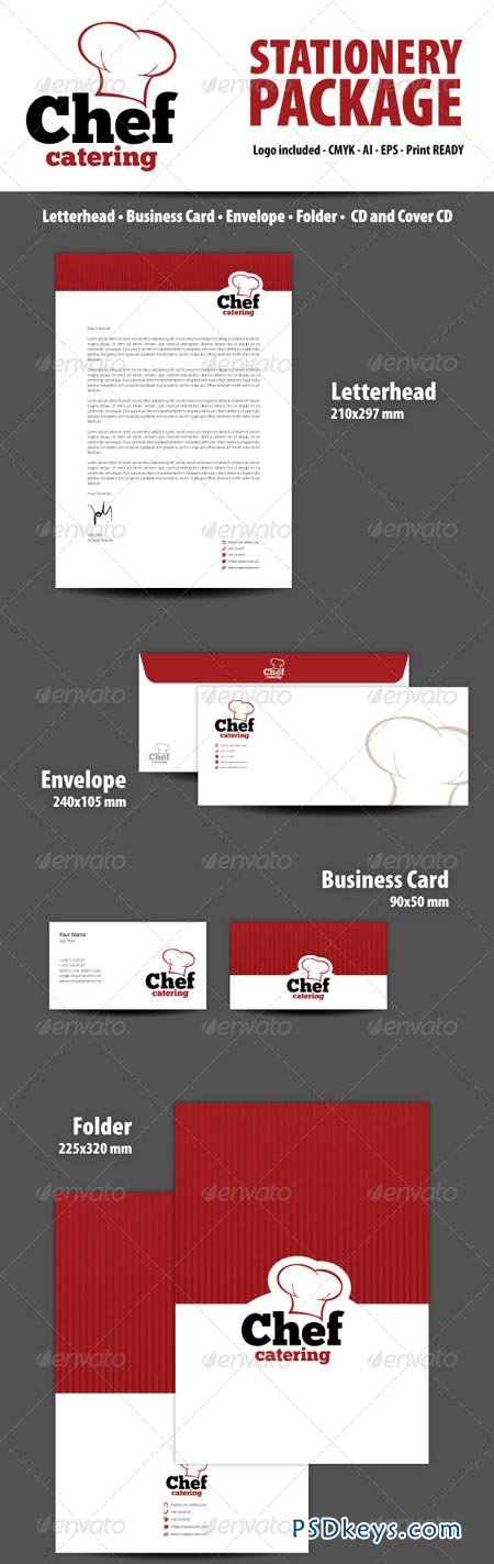 Chef Catering Stationery Package 3476792