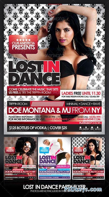 Lost In Dance Flyer 165674