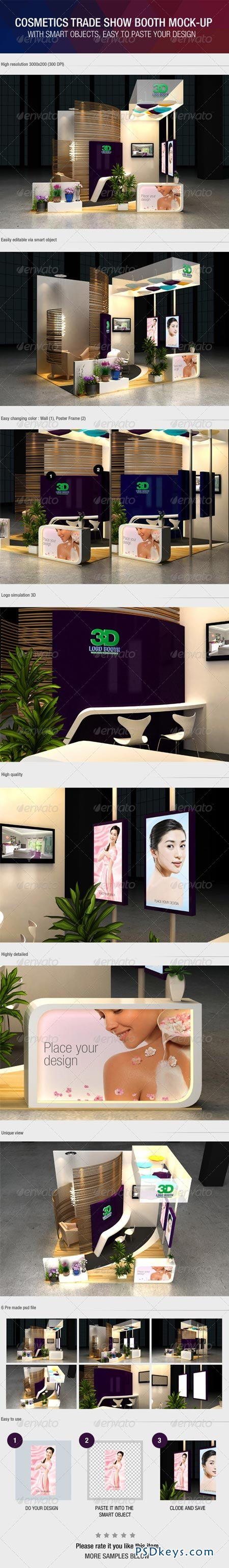 Cosmetics Exhibition Booth Mock-Up 6387882