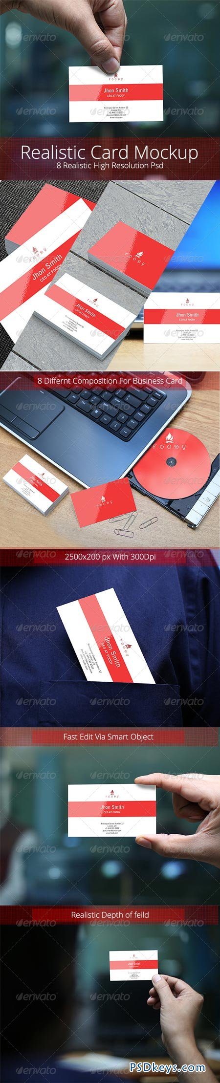 Realistic Business Card Mockup 6384339