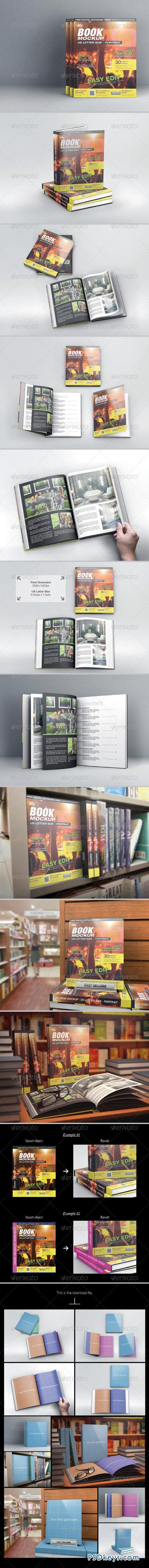 MyBook US Letter Size Mock-up 6395829