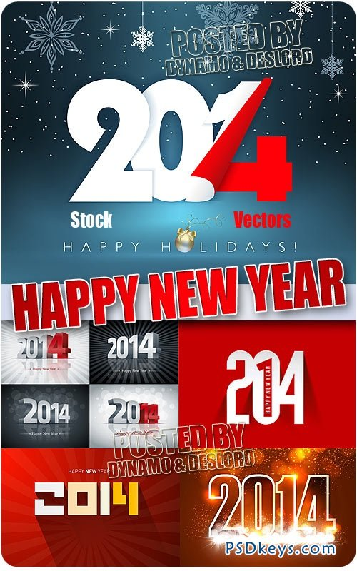 2014 New Year #4 - Stock Vectors