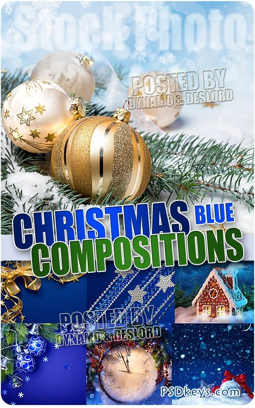 Blue Christmas Compositions - UHQ Stock Photo