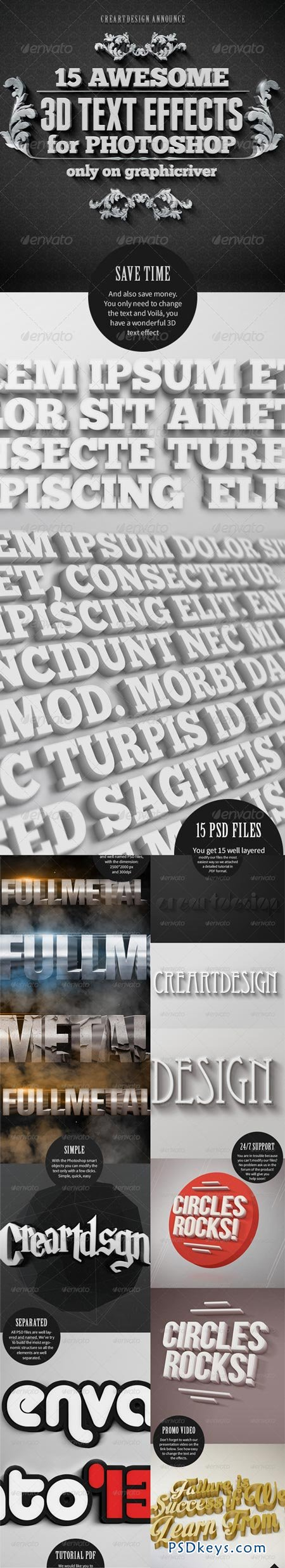 15 Various 3D Text Effects - Pack 5912325