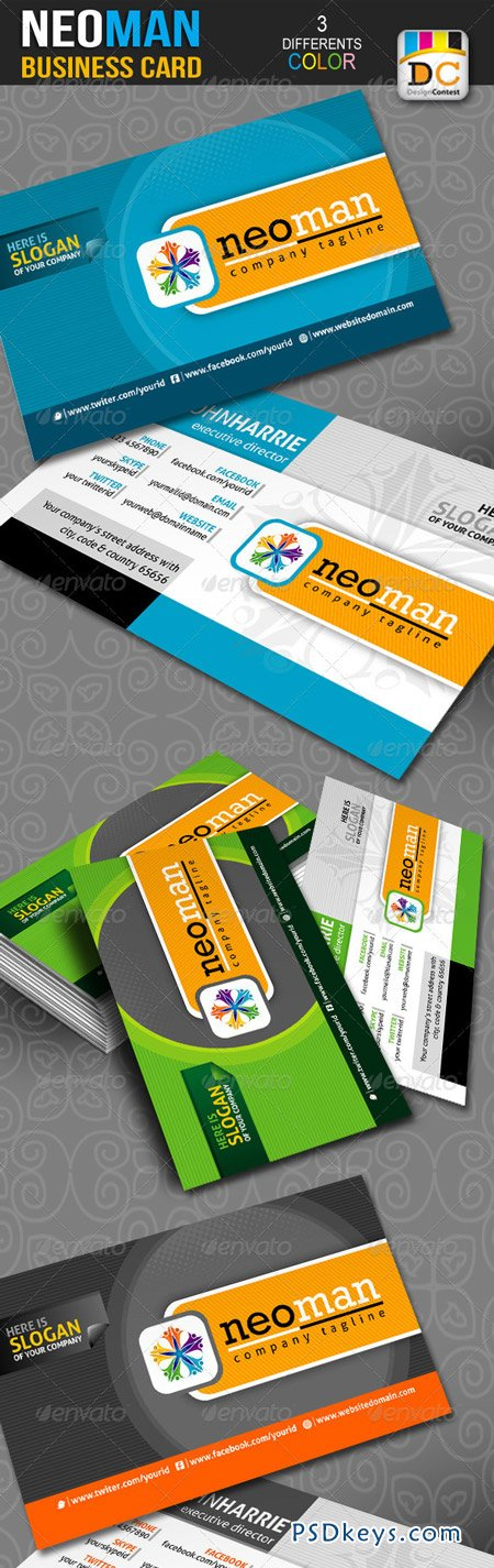 NeoMan Corporate Business Cards 3120506