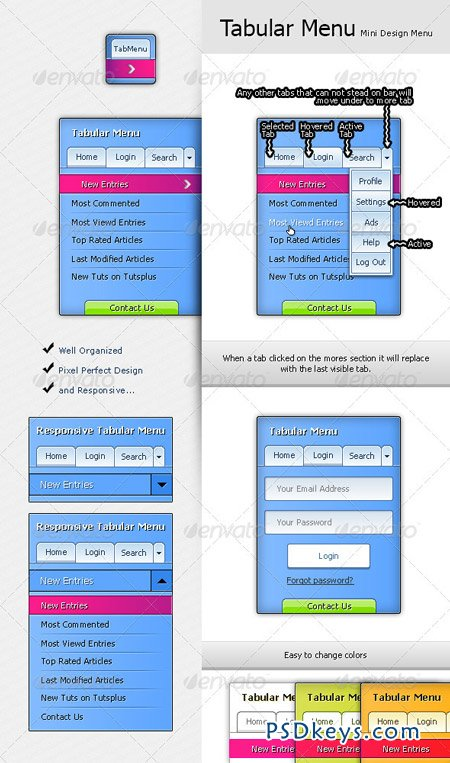 Tabular Navigation Menu 3493358