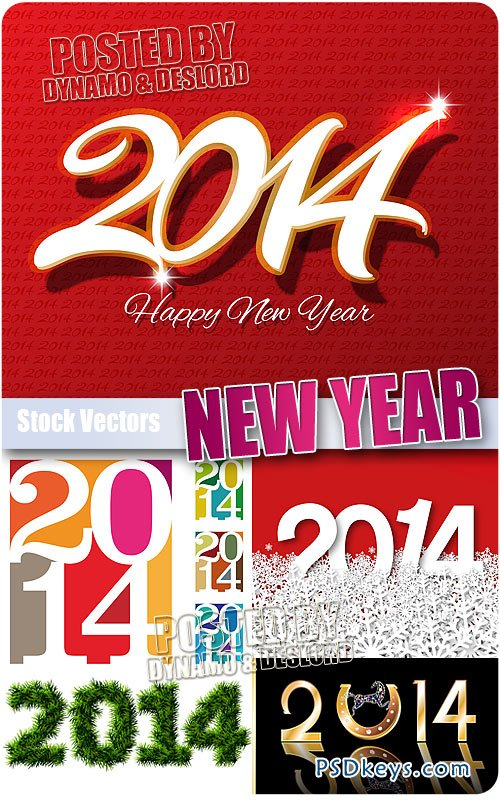 2014 New Year #3 - Stock Vectors